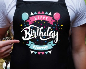 Personalised Birthday Aprons