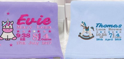 Customised baby blankets offer extraordinary warmth and comfort for your baby.
