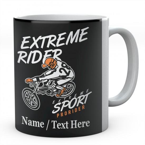 Extreme Rider Extreme Sport BMX-Personalised Mug