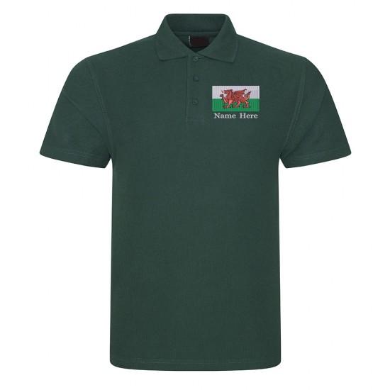 Welsh Flag Polo Shirt