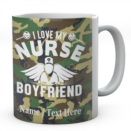 I Love My Nurse Boyfriend-Personalised Name Mug