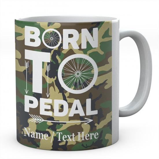 Born to Pedal Bike Personalised Mug