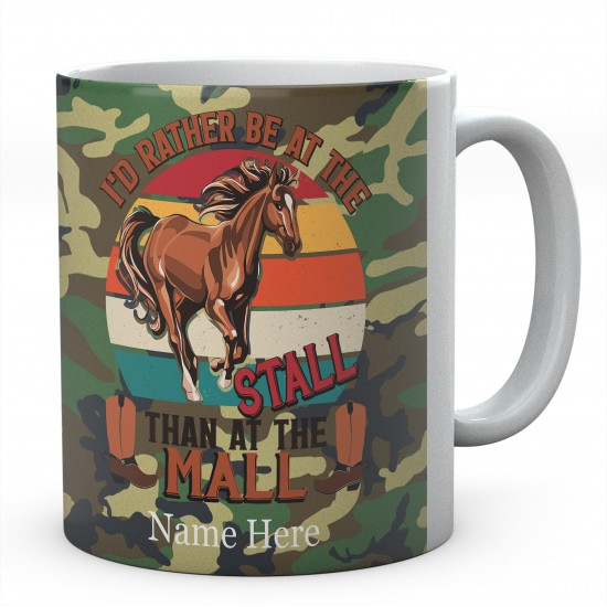 Personalised I'd Rather Be At The Stall Than At The Mall Novelty Mug