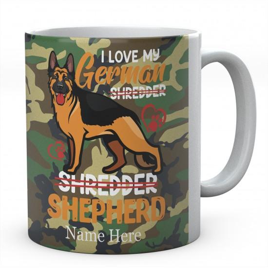 Customised I Love My German Shredder Shepherd Mug