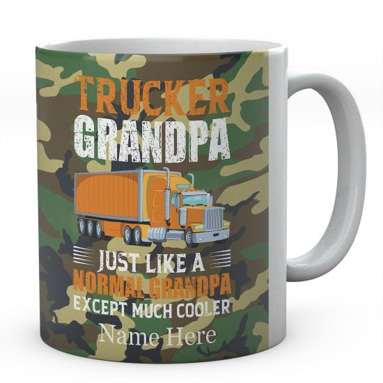 Trucker Grandpa Just Like A Normal Grandpa Except Much Cooler Ceramic Mug
