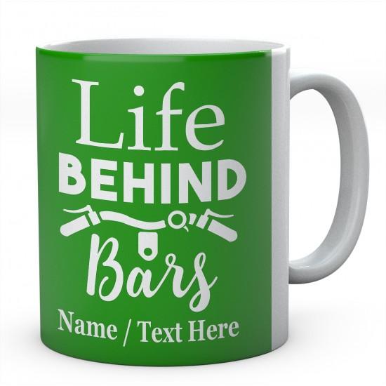 Life Behind Bars-Cycling Personalised Mug