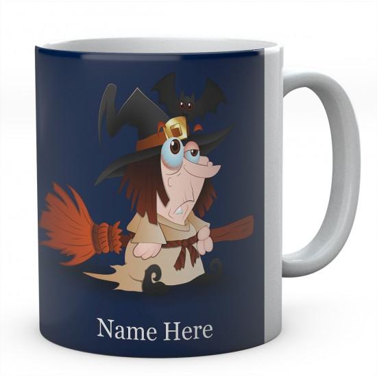 Witch On Broom Personalised Mug