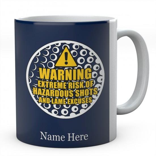 Personalised Ceramic Mug-Warning Extreme Risk Of Hazardous Shots....