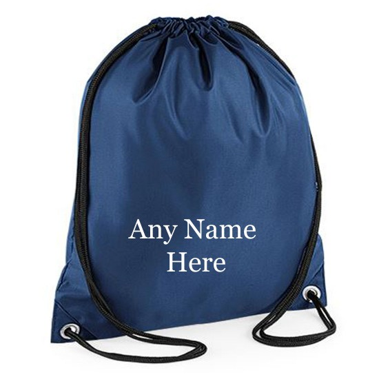 Personalised Printed Any Name Drawstring Gym Bag