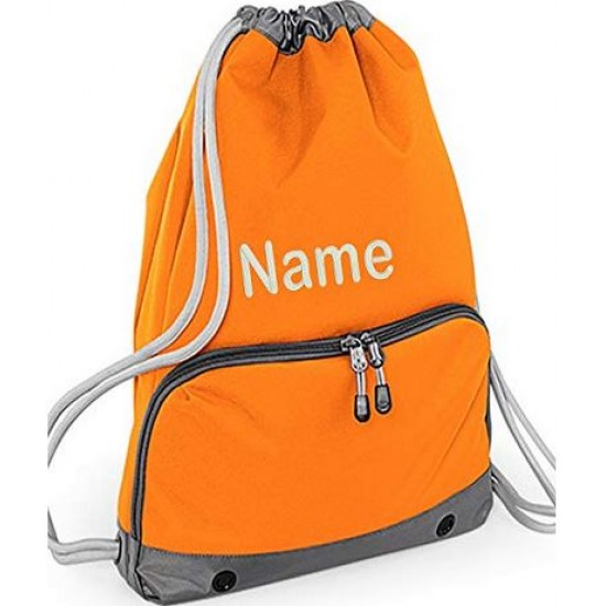 Personalised Embroidered Any name Deluxe  Drawstrings gymsac/gym bag