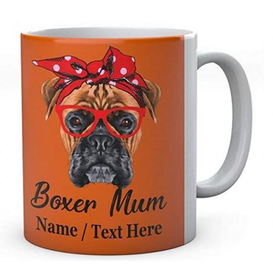 Funny Boxer Mum Mug Personalised With Name Ceramic Mug