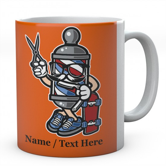 Barber Shop Skater-Personalised Name Mug