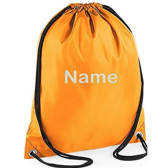 Custom-funky Unisex Personalised Embroidered Any Name Drawstring Gym Bag