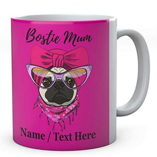Bostie Dog Mum -Personalised- Mug- Coffee -Tea