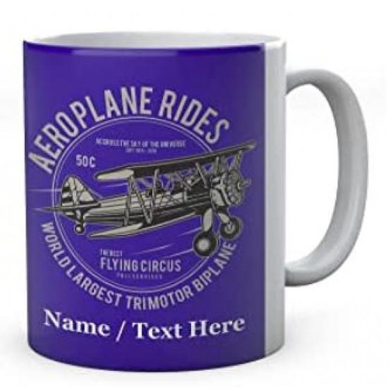 Aeroplane Ride World Largest Trimotor Biplane -Ceramic Mug