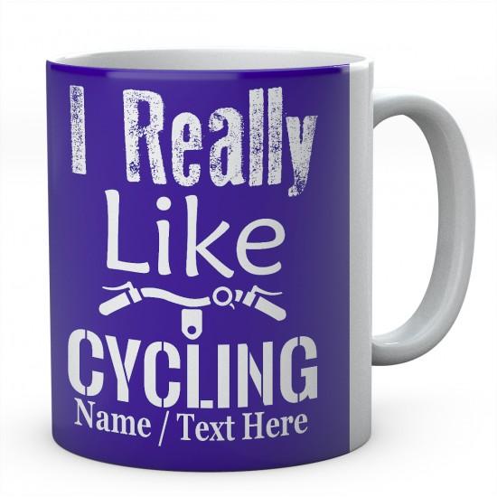 I Really Like Cycling-PersonalisedCyclist - Bicycle Mug