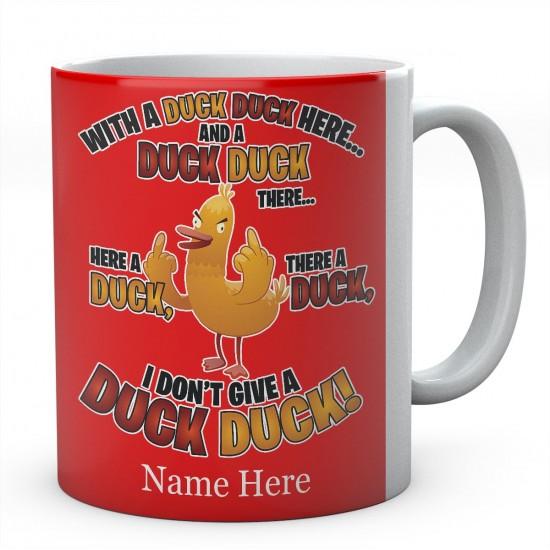 Personalised Duck Duck Ceramic Mug