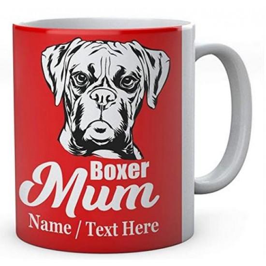 Boxer Dog Mum - Personalised Name Mug