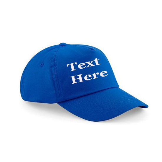 Child's Cap Personalised With Text