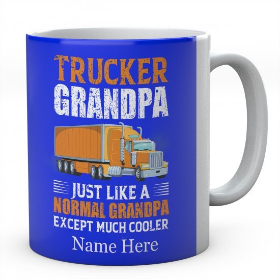 Trucker Grandpa Just Like A Normal Grandpa Except Much Cooler Ceramic Mug