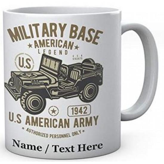 Military Base American Legend Army Jeep - CeramicMug