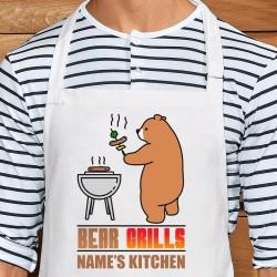 Bear Grills Apron (White Apron)