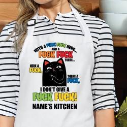 Fuck Fuck Cat Apron