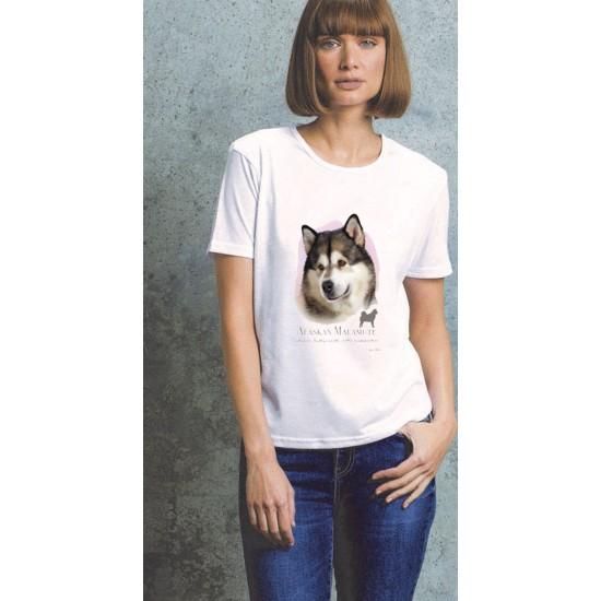 Alaskan Malamute Ladies T Shirt