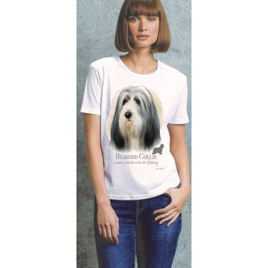 Bearded Collie Ladies T Shirt