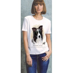 Border Collie Ladies T Shirt