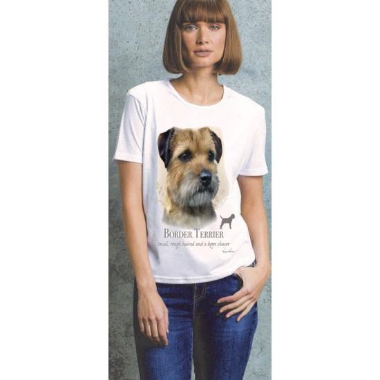 Border Terrier Ladies T Shirt