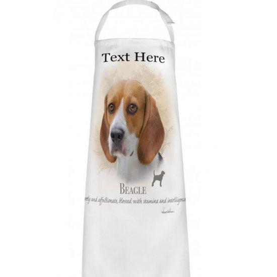 Personalised Beagle Dog Printed Apron