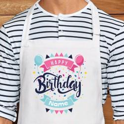 Happy Birthday Personalised Apron