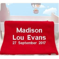 Personalised Any Name Baby Blanket