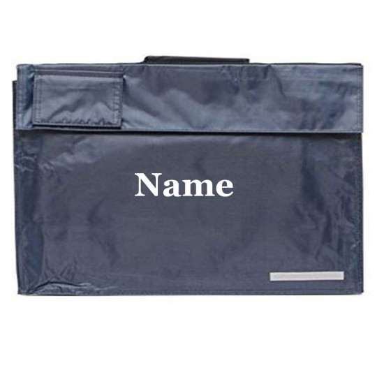 Personalised Any Name Embroidered On To Regatta Book Bag With Carry Handle, School Bag/Reading Bag