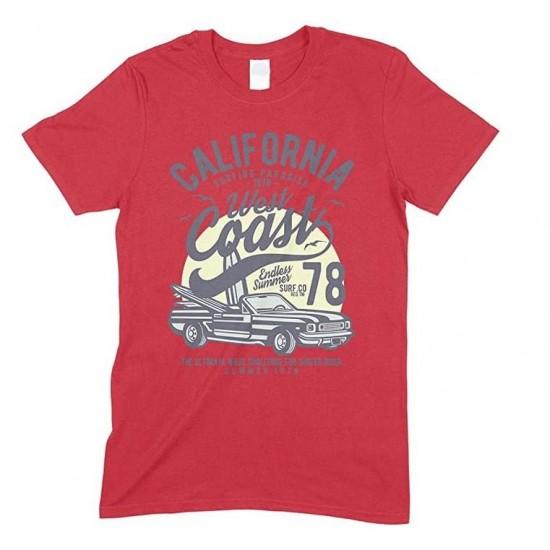 California Surfing Paradise West Coast Endless Summer - Men's Unisex T Shirt