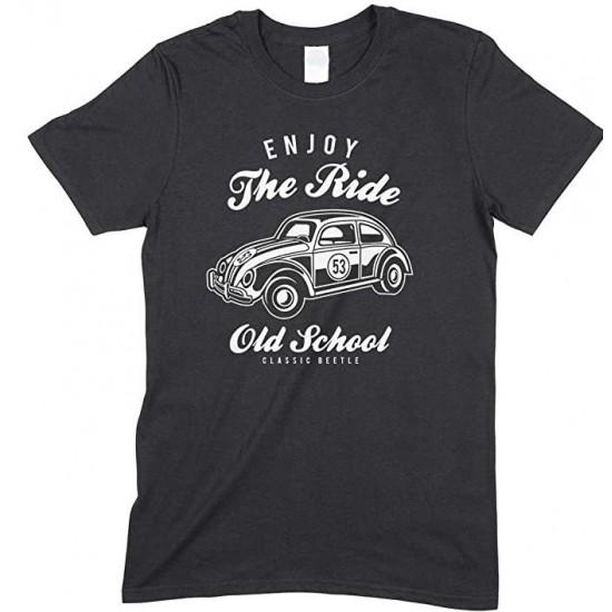 Enjoy The Ride Old School Classic Beetle- Children's T Shirt Boy-Girl