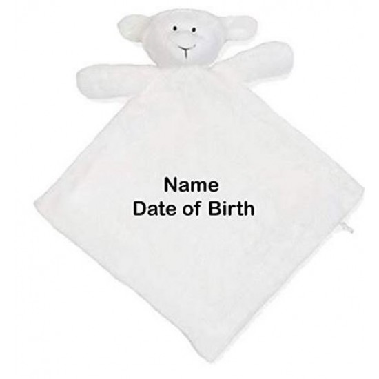 Personalised Embroidered Name onto Mumbles Zippie Lamb Comforter