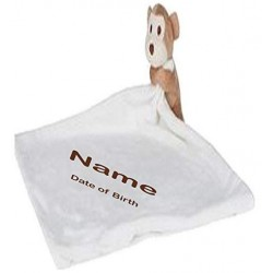 Personalised Embroidered Name onto Mumbles Zippie Monkey Comforter (Teddy Bear).