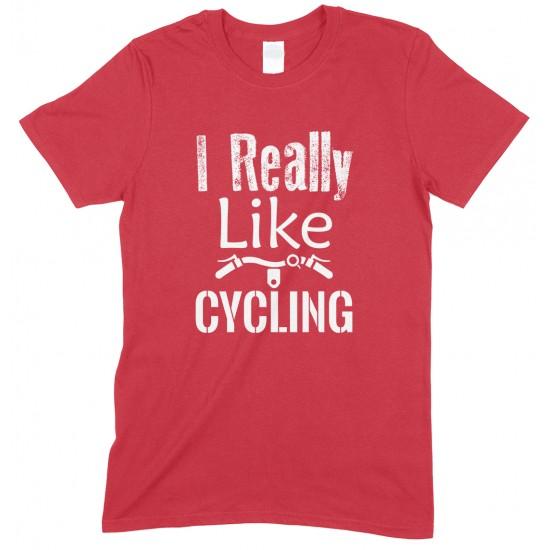 I Really Like Cycling-Unisex Adults T Shirt