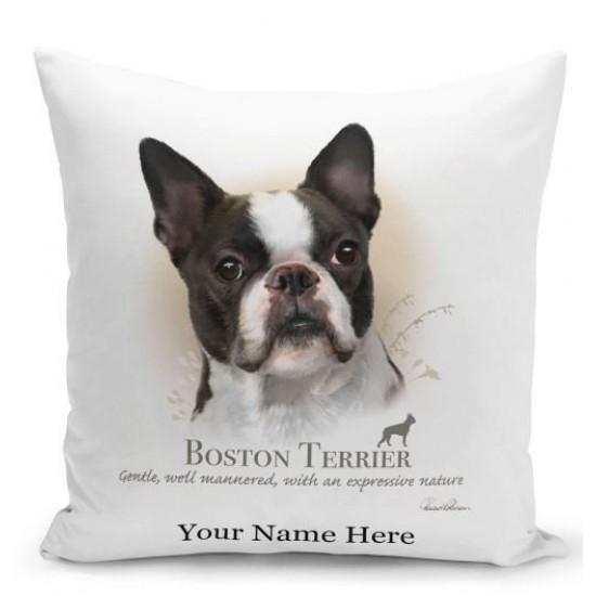Boston Terrier Dog Cushion
