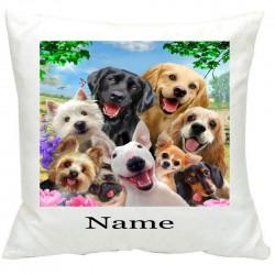 Personalised886 Dog Selfie Printed Cushion