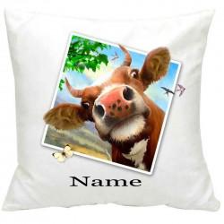 PersonalisedCow Selfie Printed Cushion