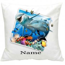 PersonalisedDolphins Selfie Printed Cushion