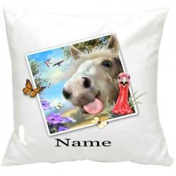 PersonalisedHorse Selfie Printed Cushion