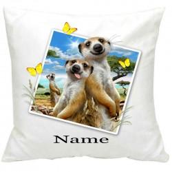 PersonalisedMeerkats Selfie Printed Cushion