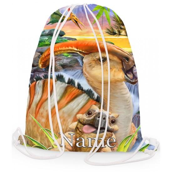 Personalised Dino Ankylosaurus Papo Gym Bag