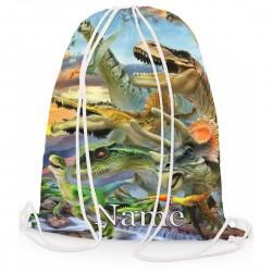 Personalised Dino Sunset Gym Bag