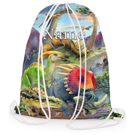 Personalised Dino Valley Gym Bag