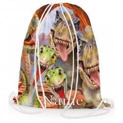 Personalised Dinosaur Rap Party Selfie Gym Bag